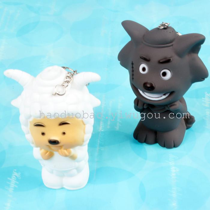 Keychain Goat Yangyang and Gray Wolf