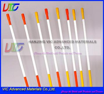 Supply Fiberglass Snow Stake,High Strength Fiberglass FRP Snow Stake With Reflective Tap And Cap,Flexible,UV Resistant