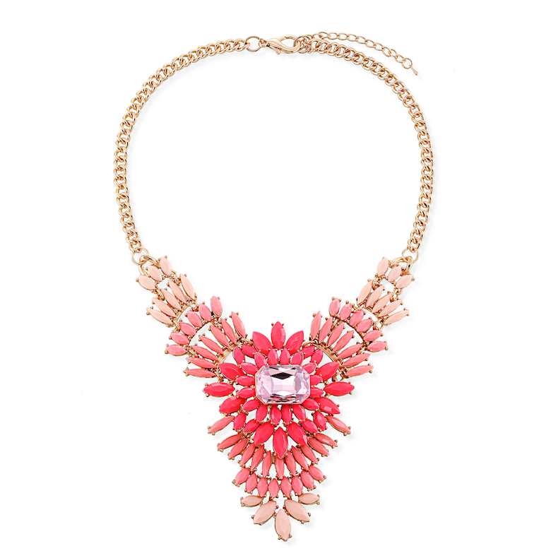 2014 latest fashion design and colorful hollow alloy necklace jewelry