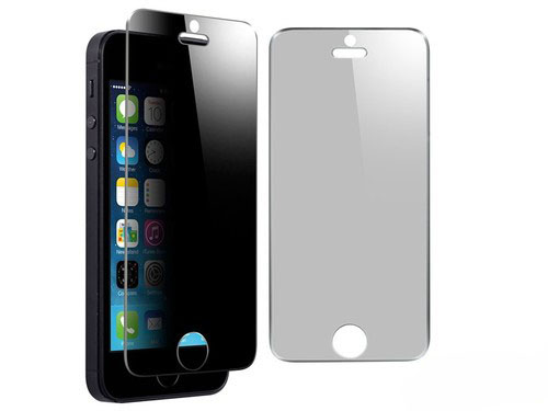 Anti-peep (180°/360°)Tempered glass screen protector, privacy tempered glass film for Iphone5/5S