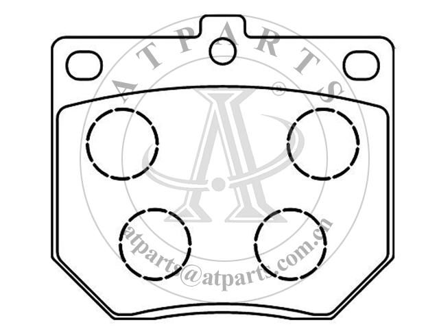 OE 2725 315 for disk brake pads