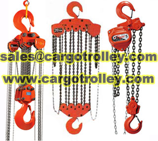 Chain pulley blocks price list