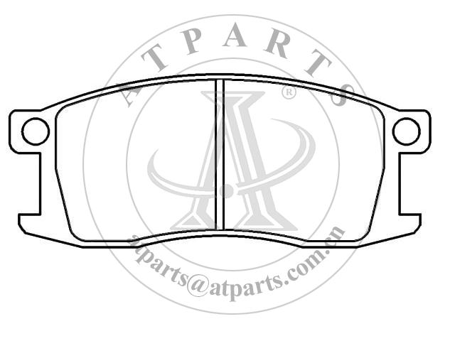 OE B4Y6-33-23A for disk brake pads