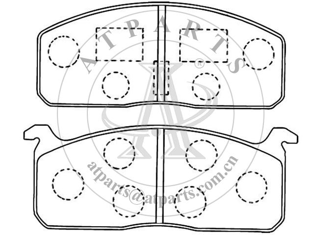 OE 4B3 698 451 for disk brake pads
