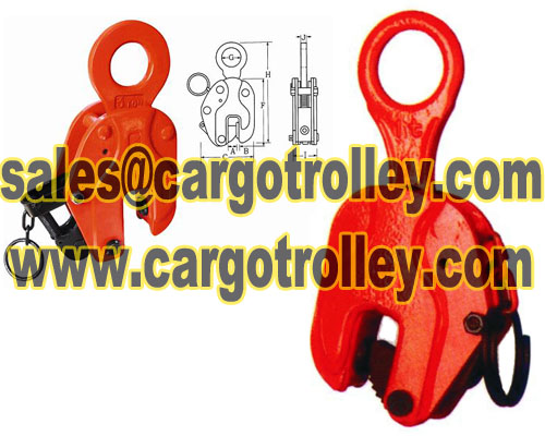 Vertical lifting clamps capacity