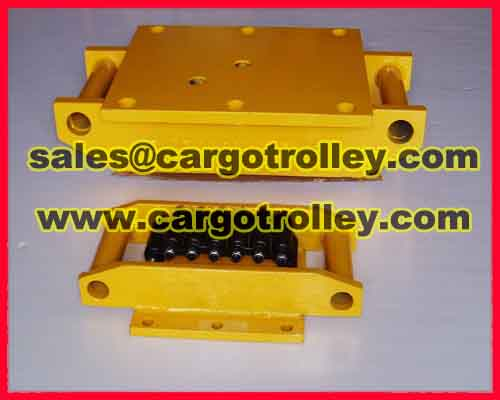 Steel chain roller skids applied on moving and handling works