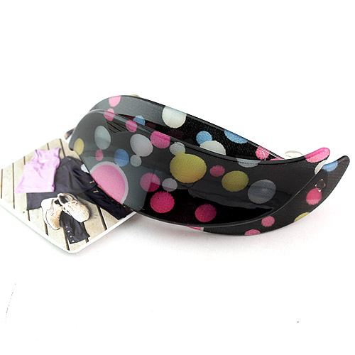 Korean Resin Dot Water Spray Hair Barrettes