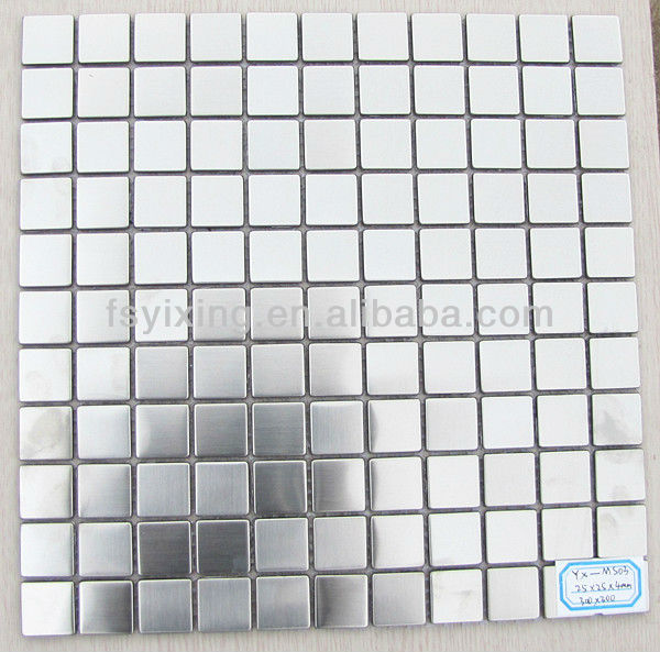 square brush metallic mosaic tile for kitchen ,bathroom wall decoration