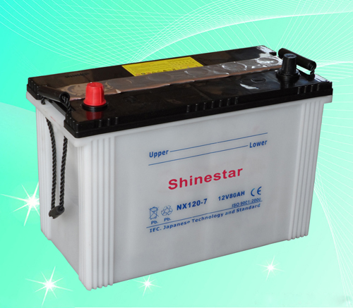 NX120-7 12V80AH Dry Charged Batteries