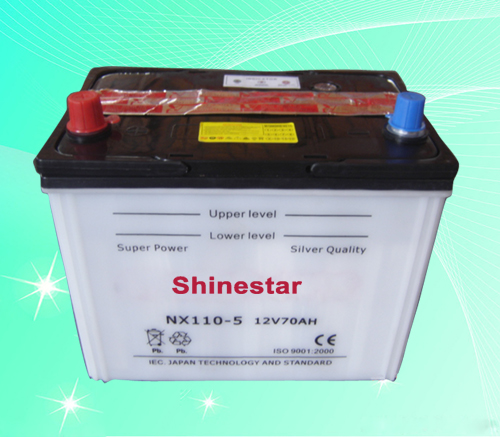 NX110-5  12V70AH Dry Charged Car Batteries