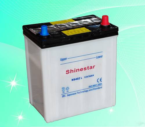 NS40ZL 12V35AH Dry Charged Car Battery