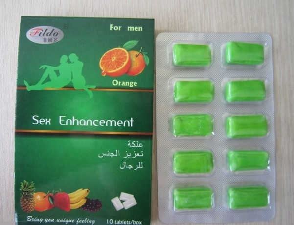 Orange Oral Chewing Gum Sex Enhancement for Man