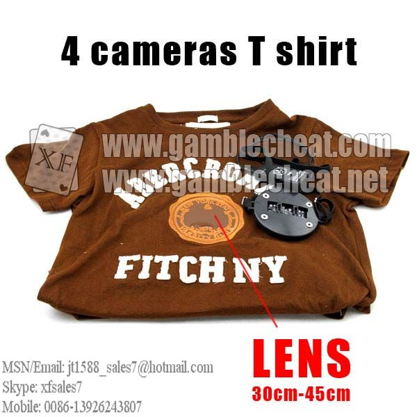 XF brand new T-shirt IR cameras with four lens for poker analyzer