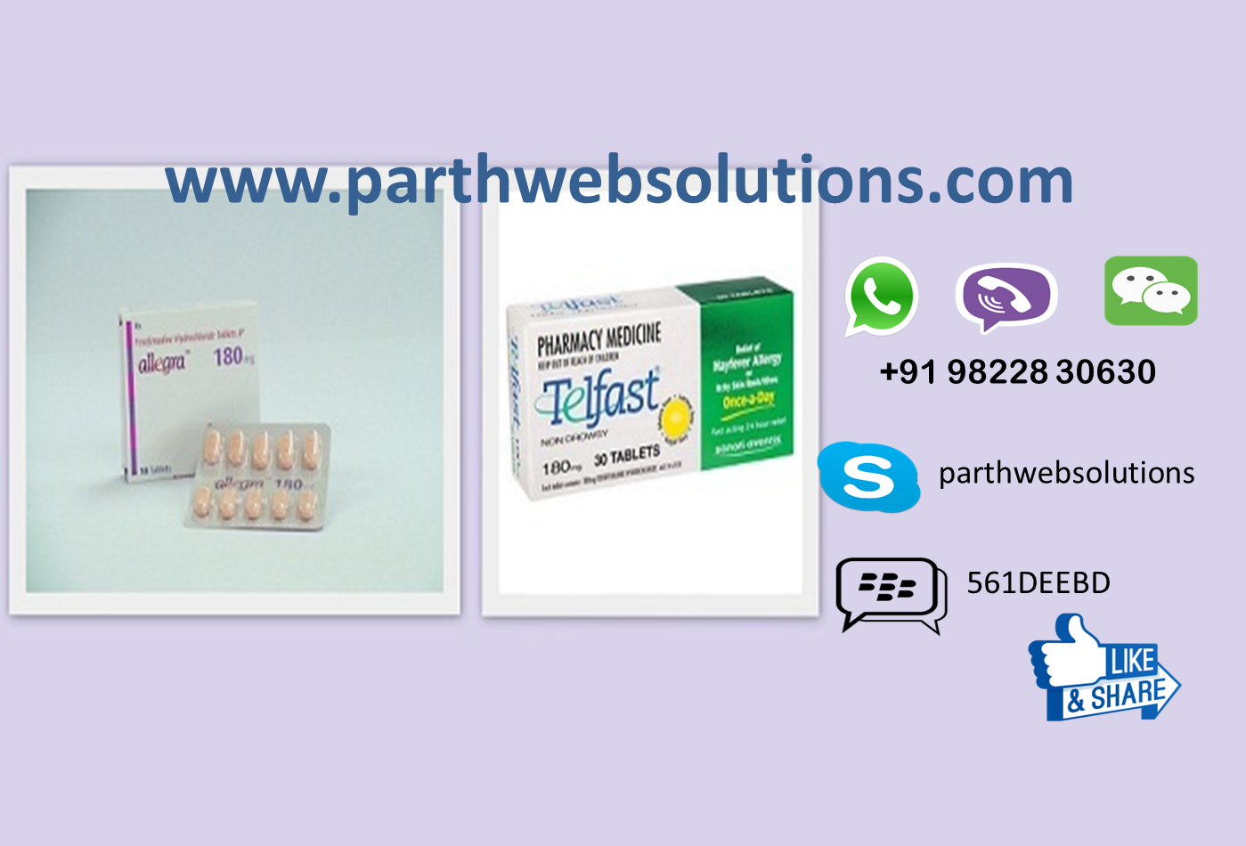Allegra 180mg, Telfast 120mg (Fexofenadine Tablets)