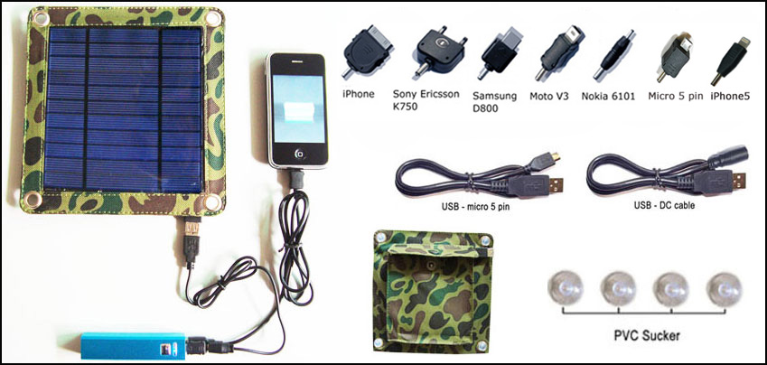 3watt portable solar charger kit CY-303