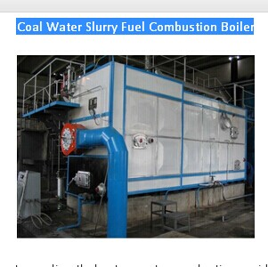 Coal Water Slurry Fuel Combustion Boiler