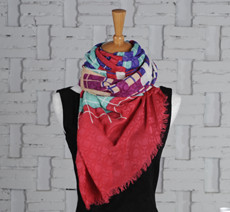 Custom-Made Silk Cashmere Scarf