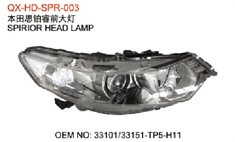 HONDA SPIRIOR FRONT HEAD LIGHT