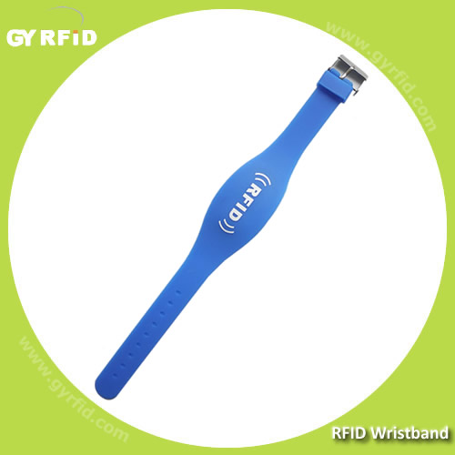 WRS04 is dual frequency RFID wristband, LF+UHF, HF+UHF type (GYRFID)