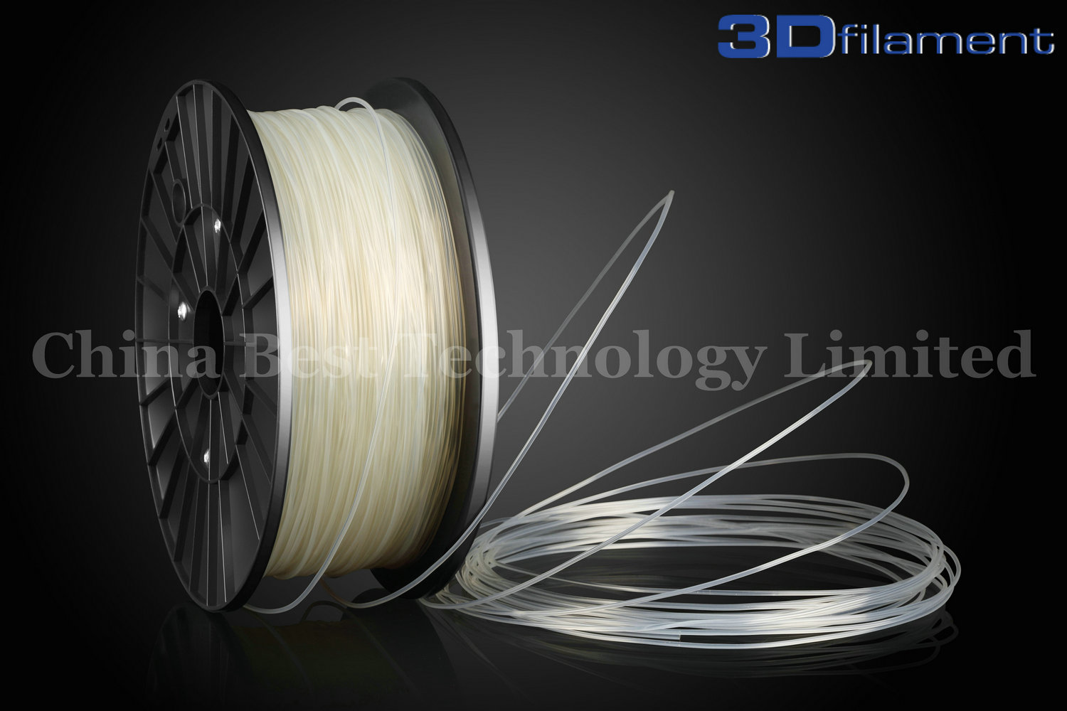 3D Printer Filament PLA 1.75mm Transparent