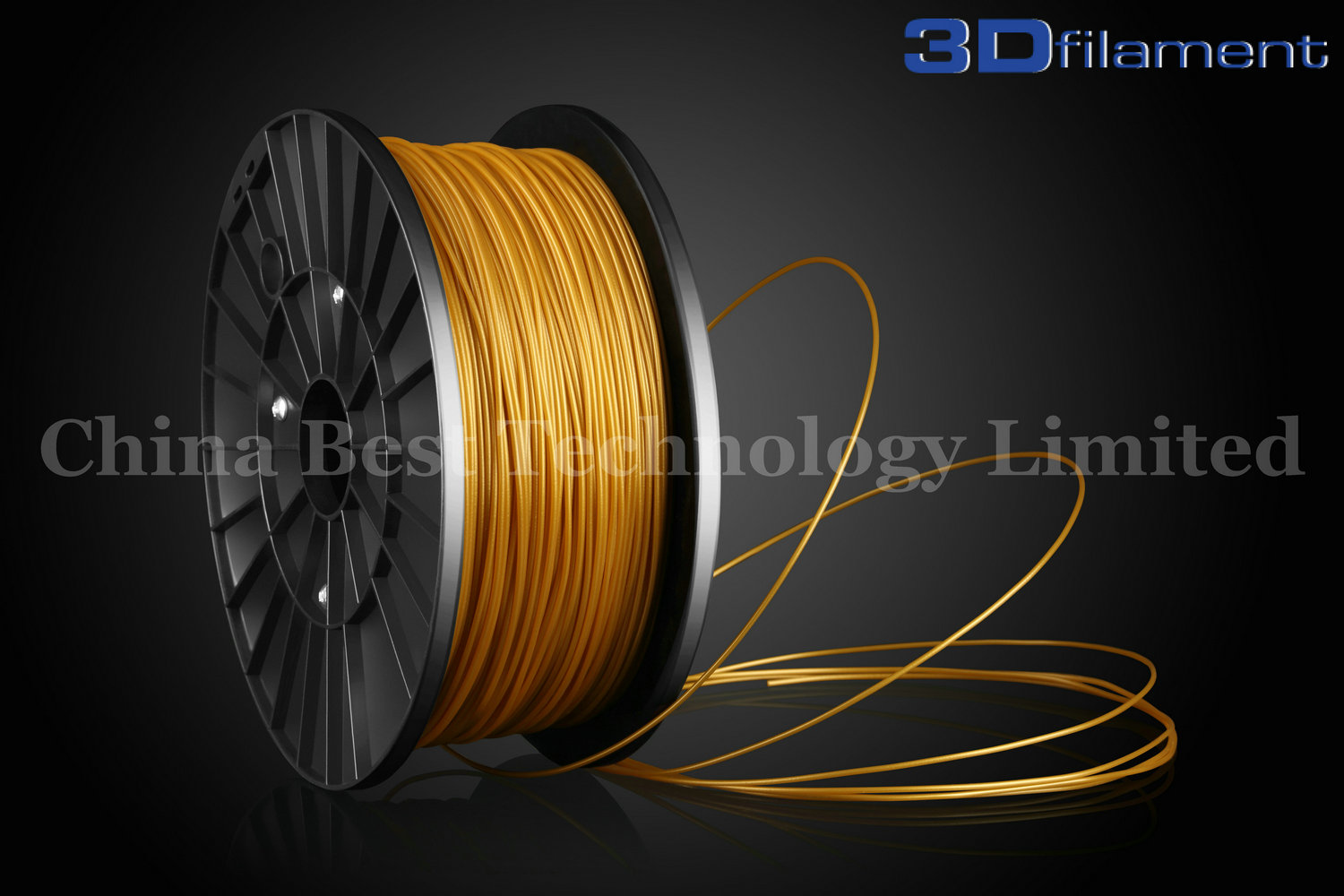 3D Printer Filament PLA 1.75mm Gold