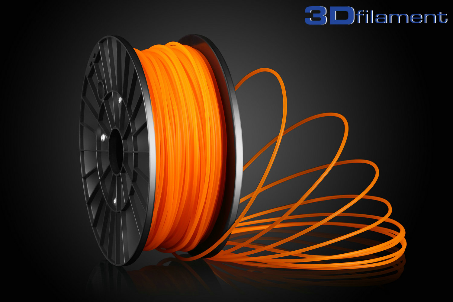 3D Printer Filament PLA 3.0mm Orange