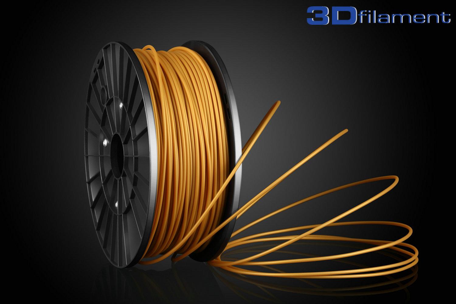 3D Printer Filament PLA 3.0mm Gold