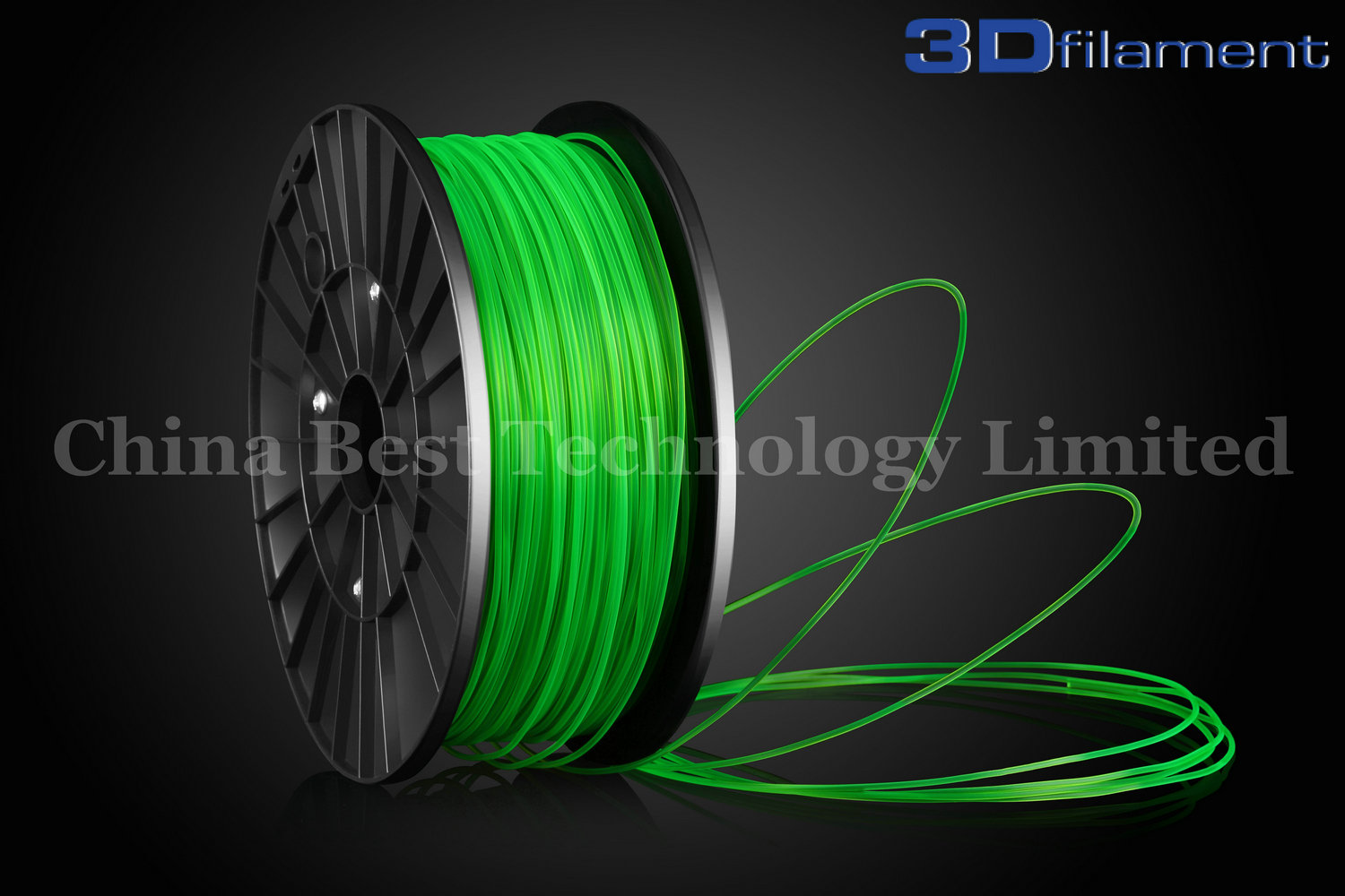 3D Printer Filament PLA 3.0mm Transparent Green