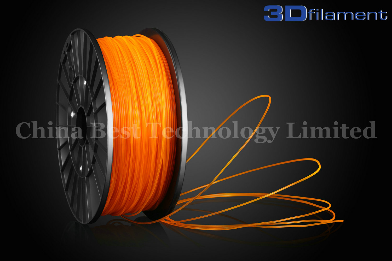 3D Printer Filament PLA 3.0mm Transparent Orange