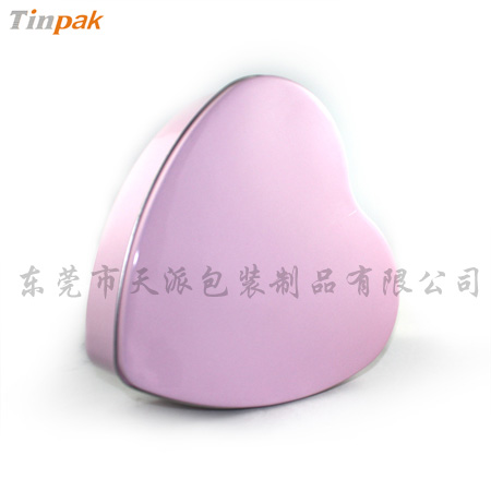 Valentine heart shaped chocolate tin box