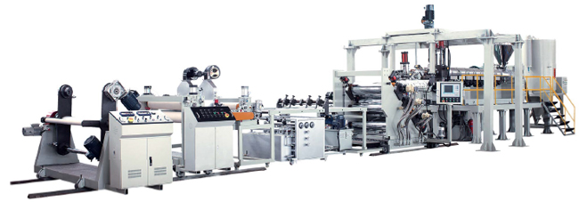 Single layer plastic sheet/board extrusion line