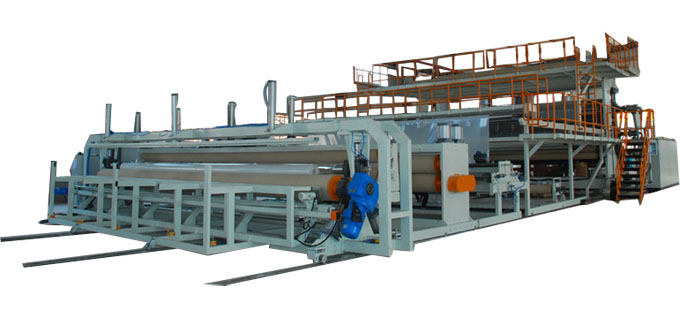 PE geomembrane production line