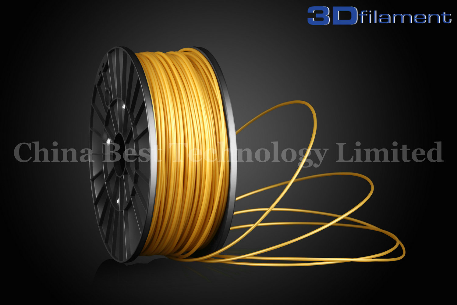 3D Printer Filament ABS 3.0mm Gold