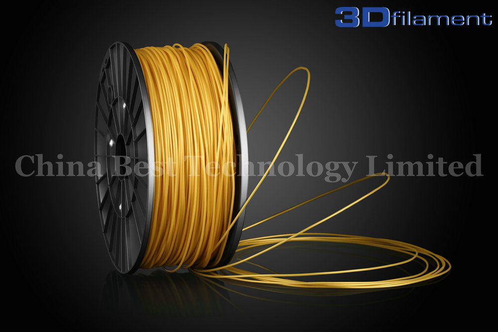 3D Printer Filament ABS 1.75mm Gold