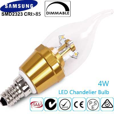 LED Candle E14 Chandelier 1. LED Candle bulb with 360 Degree Beam Angle