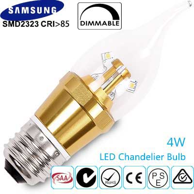 4W Dimmable LED Candle Light