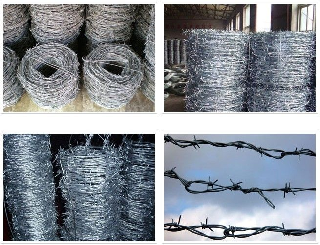 PVC/galvanized isolation protection barbed wire