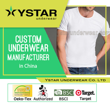 Mens cotton blank white T-shirt sleepwear YSMU-0002