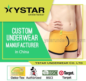 Children boxer newest style boys underwear with open fly YSBB-0009