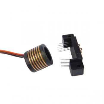 Gold to gold contact separate slip ring