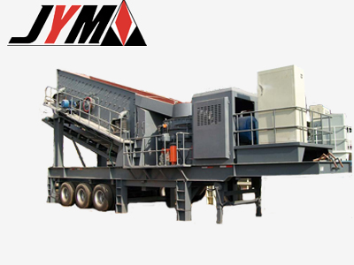 wheeled mobile crushing plant