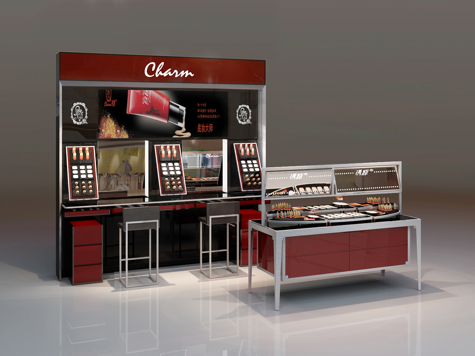Cosmetic Exhibition Stand Design : New design cosmetic mdf makeup product display stand