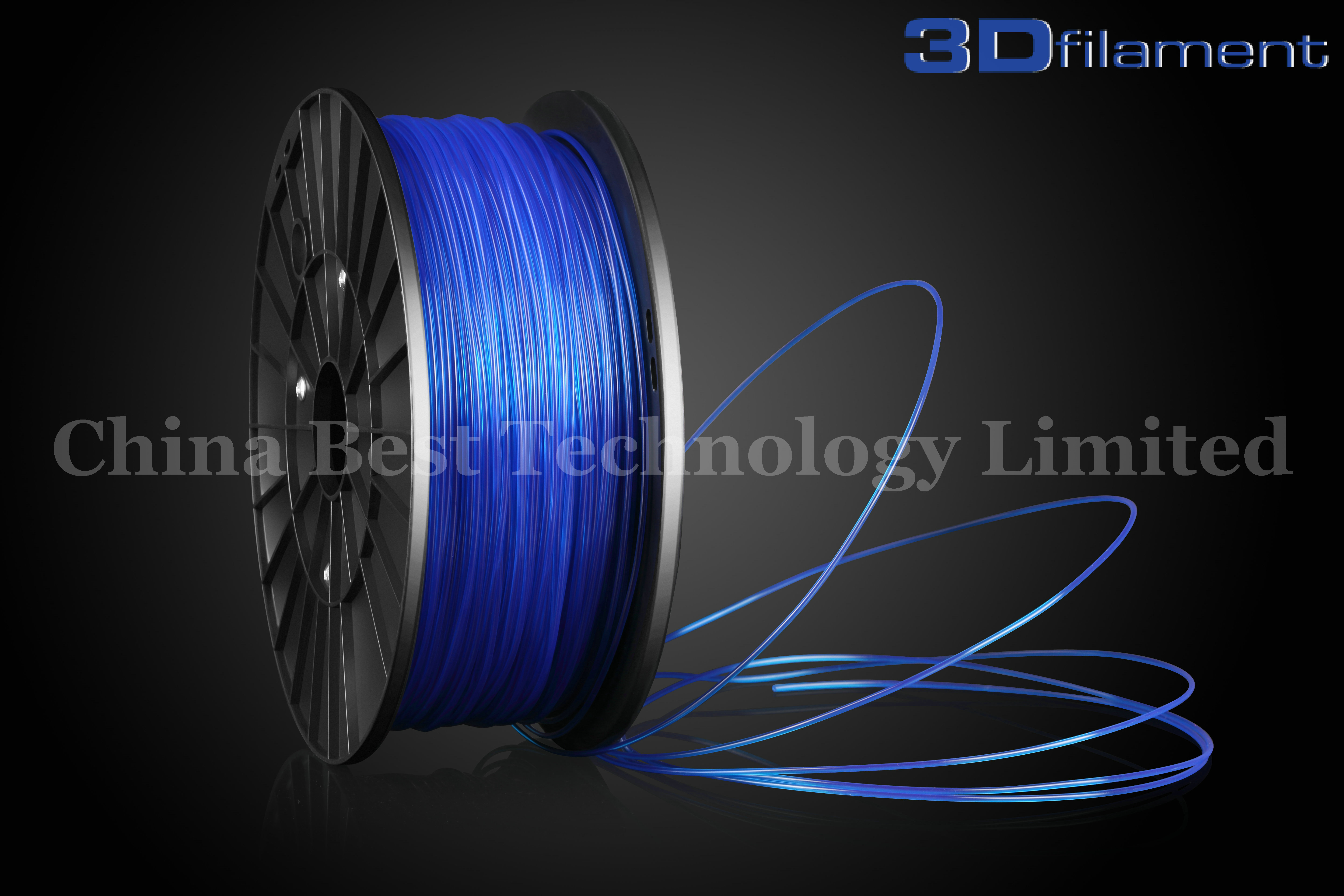 3D Printer Filament PLA 1.75mm Transparent Blue