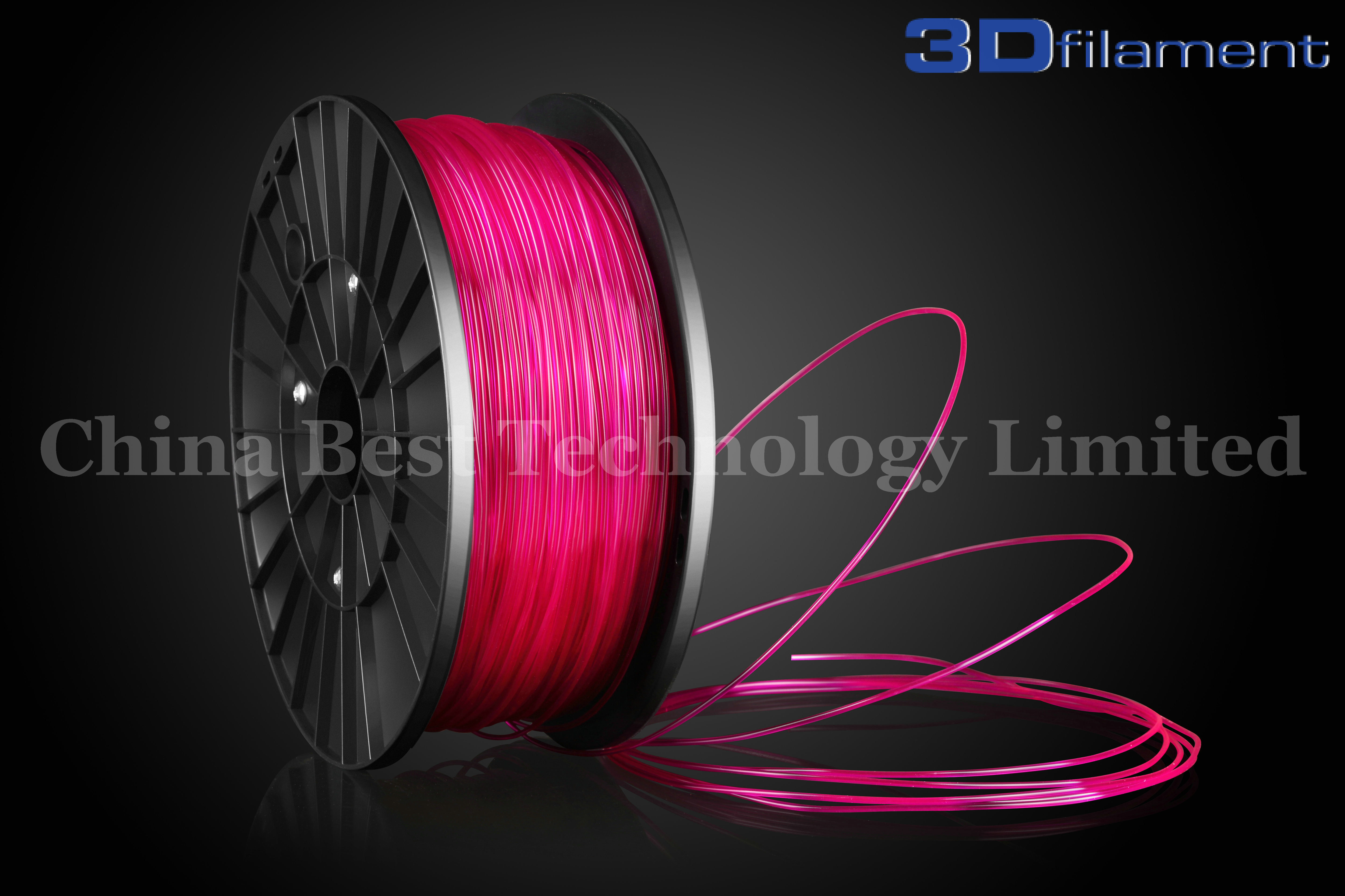 3D Printer Filament PLA 1.75mm Transparent Purple
