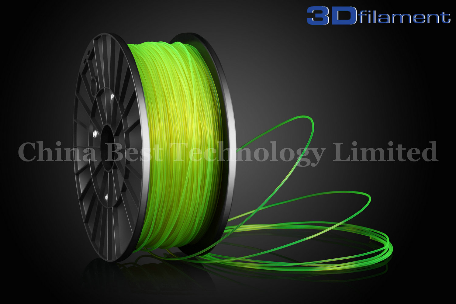 3D Printer Filament PLA 1.75mm Transparent Yellow