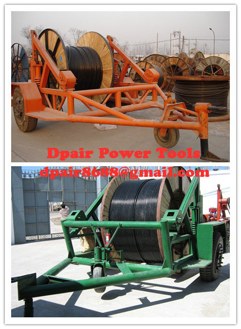 low price Cable Winch,Cable Drum Trailer, new type Cable Drum Carrier