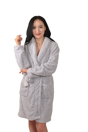 adult coral fleece women robe