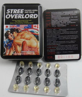 Street Overload Sex Enhancement Pills Tin Package Version