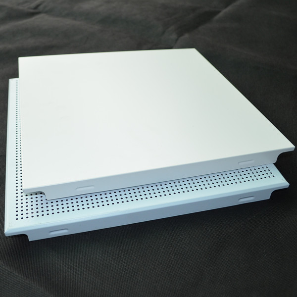 Clip-in Aluminum Ceiling,standard metal square ceiling panel, 600*600mm