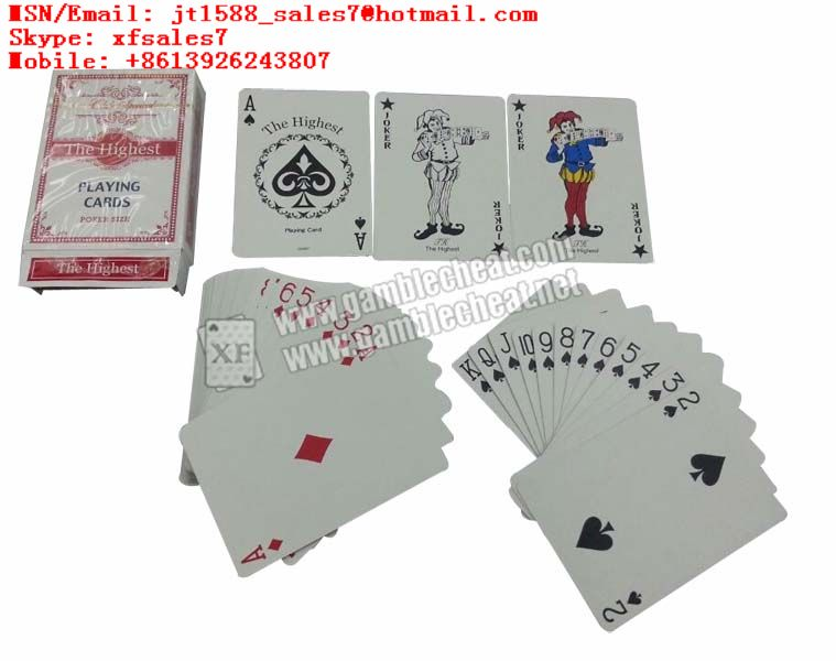 XF The Highest Playing cards-Club Special Playing Cards from Japan users/poker analyzer/poker cheat/contact lens/infrared lens/poker scanner/marked cards/invisible ink/gamble cheat/electronic dices/ba
